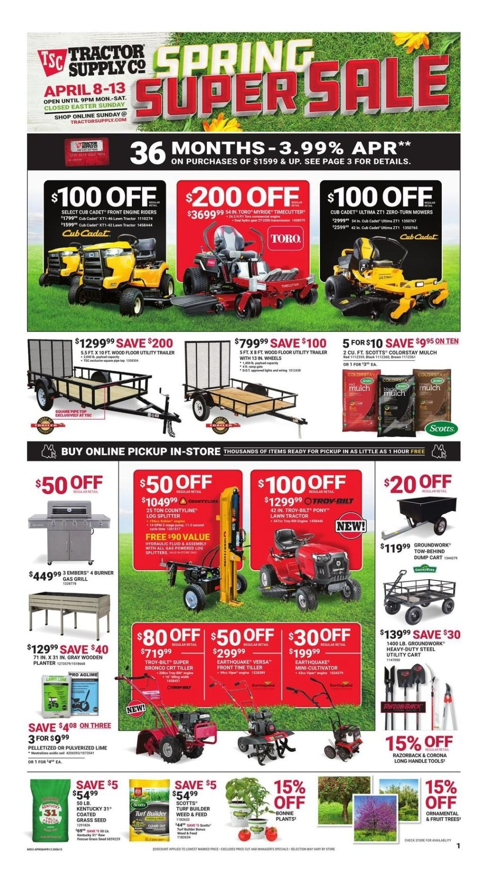Tractor Supply Spring Black Friday page 1